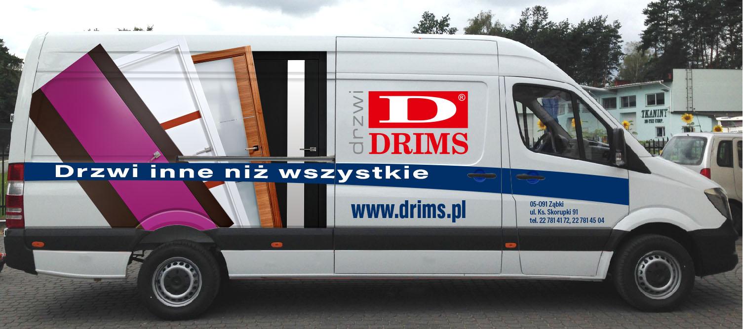 Oklejenie auta firmy Drims